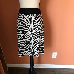 Animal print knee-length skirt by The Limited